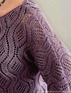Beautiful Lace Stitch Sweater 2