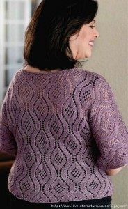 Beautiful Lace Stitch Sweater 4