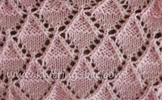 Lace Knitting Stitch Pattern ~ Lace Knitting Stitch