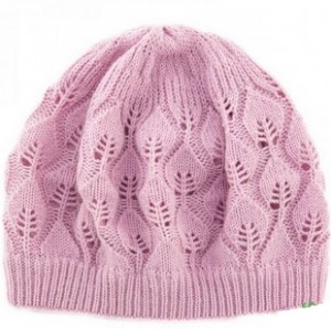 Pink Leaf Beanie Knitting Pattern
