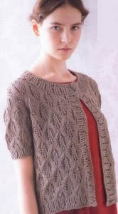 knitted Jacket with diamond pattern