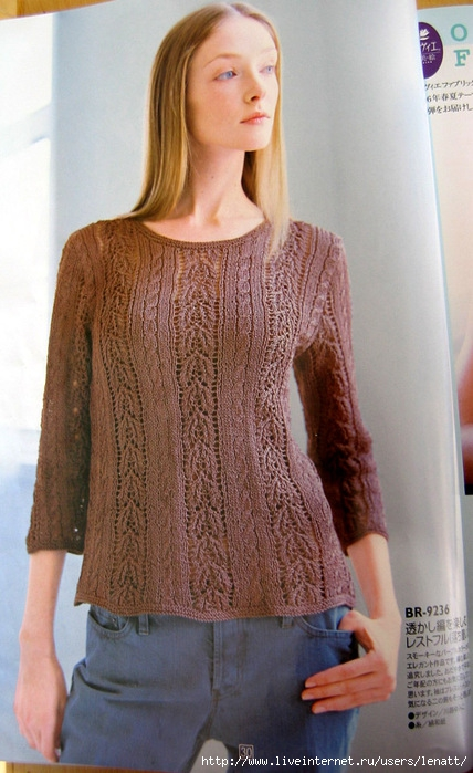 Lace Knitting Patterns For Sweaters : Knitted lace sweater pattern knitting stitch