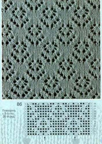 Flower Lace Knitting Stitches Lace Knitting Stitch