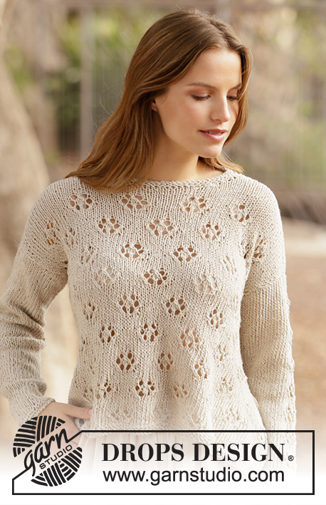 Lace summer sweater knitting pattern