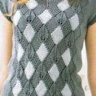 Diamond and Lace Tee Knitting Pattern