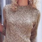 Knitted Pullover Pattern in Lace