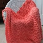 Feather and Fan Stitch Blanket